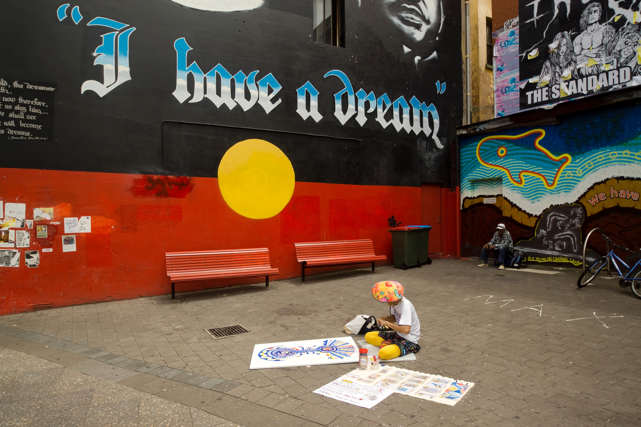 I have a dream street mural