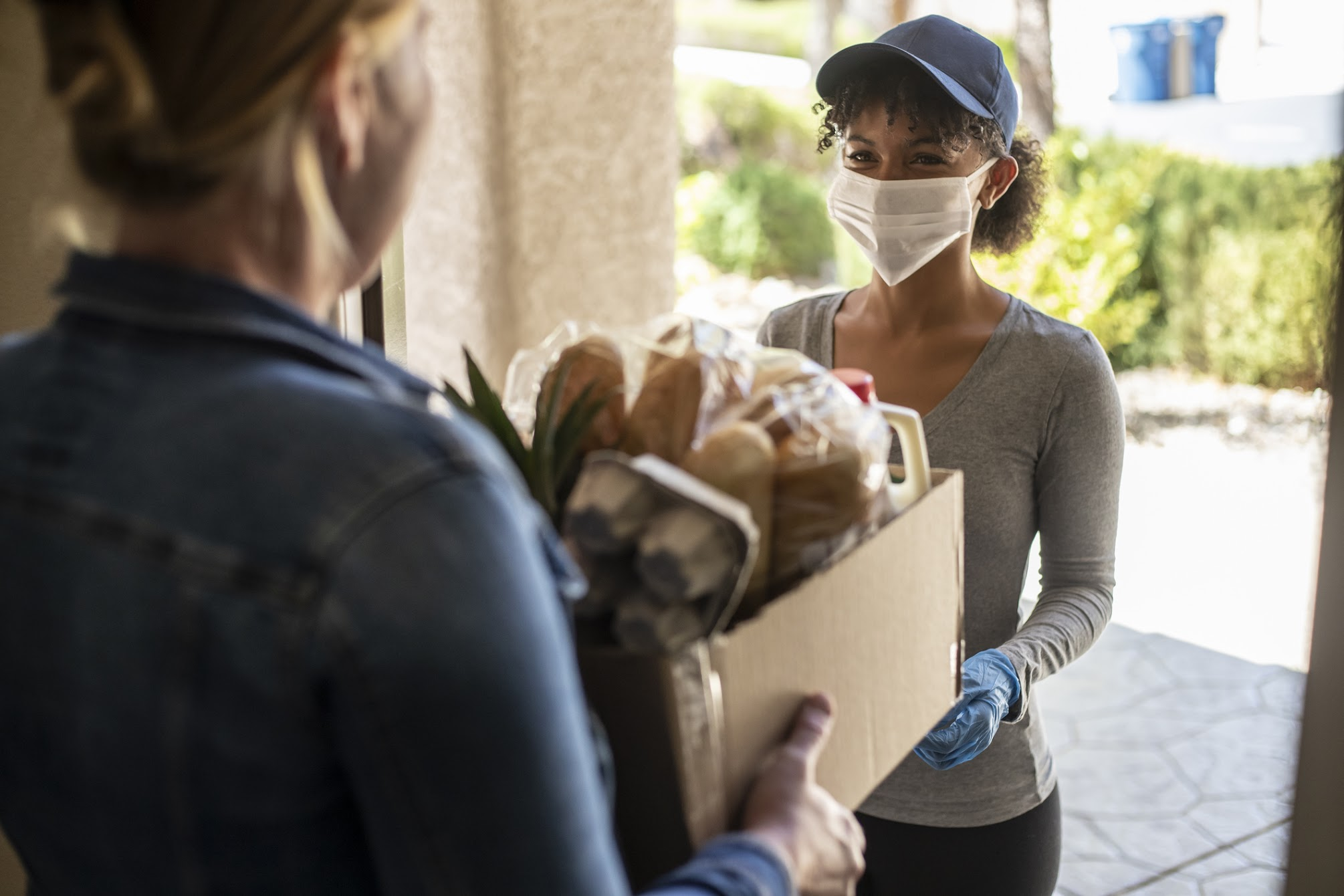 Woman delivering food